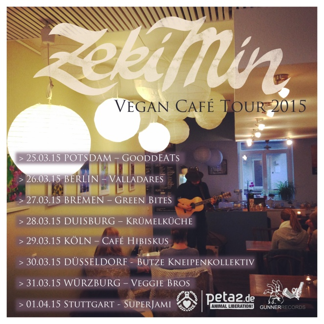 Vegan-Cafe  Tour Flyer Zeki Min